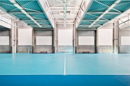 sporthal hekers, interieur